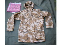 SMALL - British Army Issue Desert Pattern Windproof Combat Smock + FREE Shemagh Scarf