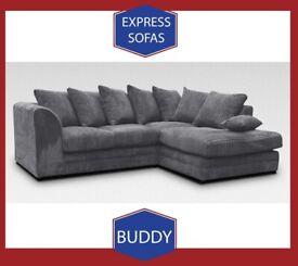 😂New 2 Seater £169 3S £195 3+2 £295 Corner Sofa £295-Crushed Velvet Jumbo Cord Brand 🍯Z4