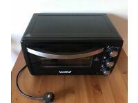 VonShef 19 Litre Black Mini Oven Table Top Grill 1400W