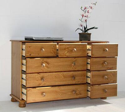 Massivholz Sideboard 9 Schubladen kommode Kiefer honig Anrichte Wäsche-schrank - 2 Schubladen Kiefer Schrank