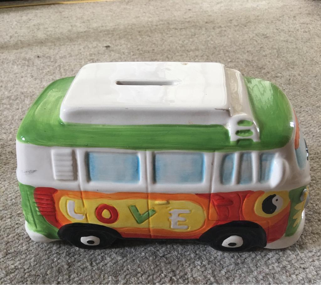 Camper van/ love bus money box