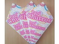 churro / churros cones 500ml with fold-out pocket for sauce or chocolate 100PC