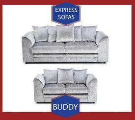 🤠New 2 Seater £169 3S £195 3+2 £295 Corner Sofa £295-Crushed Velvet Jumbo Cord Brand F9
