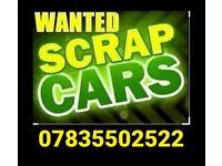 SCRAP CARS VANS WANTED TODAY