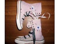 Ladies' UK Size 5.5 Long Fold-Over Pink Converse