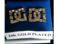 Gold plated D&G stud earrings