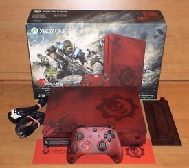Limited Edition 2tb Gears Of War 4 Xbox One S console boxed