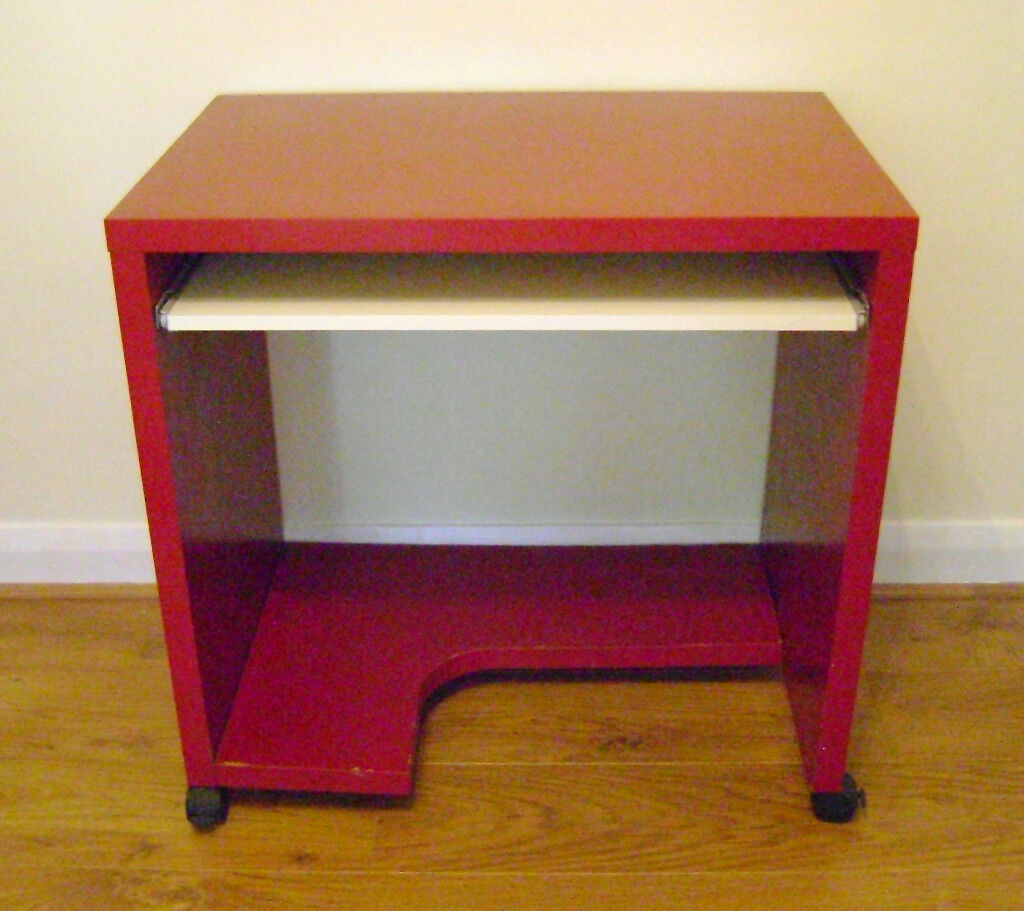computer used in good red caterham desks desk ikea p but condition