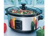 Morphy Richards stainless steel oval slow cooker