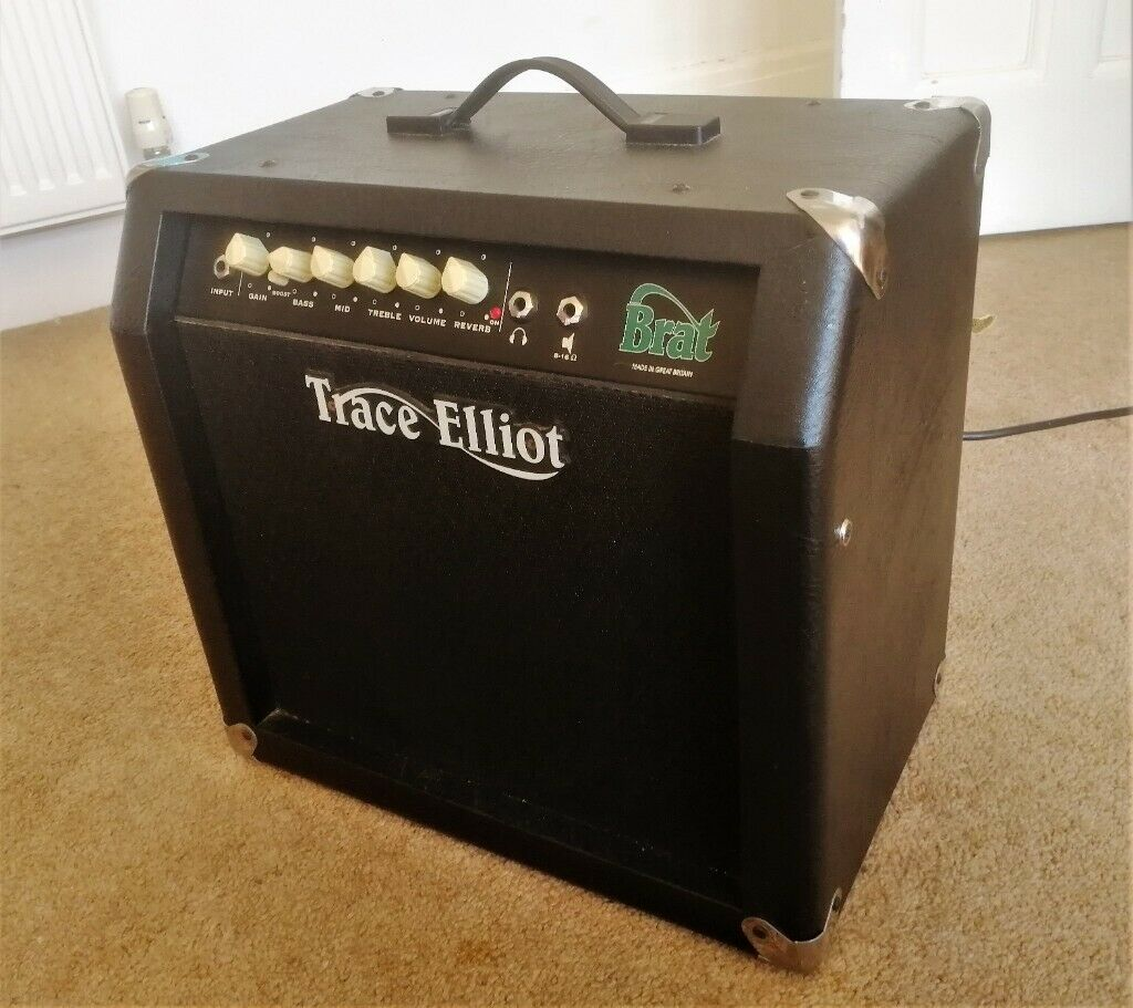 "Trace Elliot Brat 15w Guitar Amplifier Practice Amp 8"" Celestion Speaker  Spring Reverb 