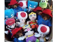 Brand new official soft toys peppa pig mario paddington me 2 you