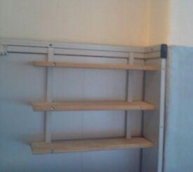 small ikea hanging shelves