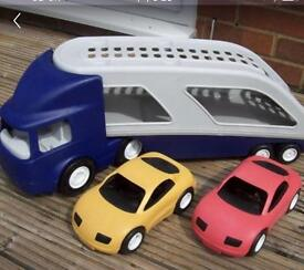 Litter tikes toy car transport with 2 car