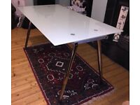 Desk Glass with adjustable legs (excellent conditions)