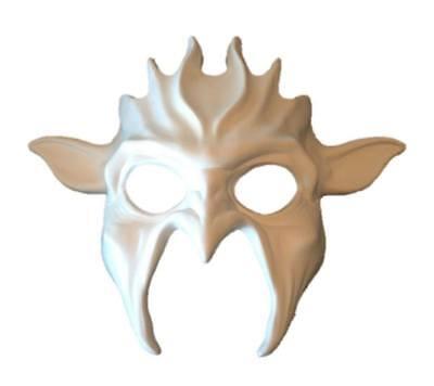 Paint Your Own Devil White Adult Mask Decorate Mardi Gras Animal Demon - Diy Mardi Gras Decorations
