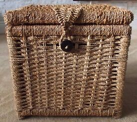 Lovely storage basket with hinged lid.