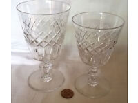 his and hers tudor cut glass goblets
