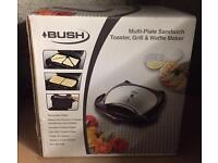 Bush Multi Plate Sandwich Toaster, Grill & Waffle Maker