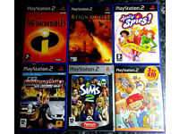 Beach Bandits Totally Spies The Incredibles The SIMS Reign of Fire Midnight Club3 - PS2 Games