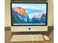 Apple iMac 24inch Computer, 8.1(2008), Intel Core 2 Duo @ 3.06Ghz, 4Gb, 500Gb, OS 10.11.6