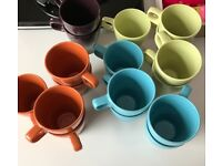 BEAUTIFUL!!! New!! COLOURFUL!!! UNIQUE!! DESIGNER STYLE & GOOD QUALITY Mugs! ONLY £5!SET OF 5x3 Sets
