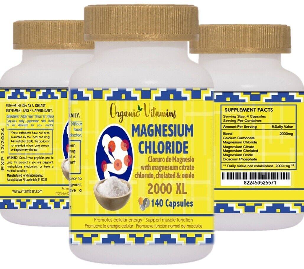 MAGNESIUM CHLORIDE MAXICLORURO 2000 140 CAPSULES CLORURO DE MAGNESIO 2
