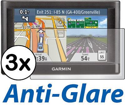 3X Anti Glare Lcd Screen Protector Guard Film Gps Garmin Nuvi 52 52Lt 52Lm 52Lmt