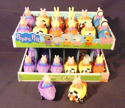 NEW Peppa Pig Mini Buggies Lot (2) George & Peppa Preschool Toy Cars Racers NWT