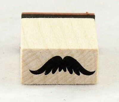 Bushy Mustache Wood Mounted Rubber Stamp Inkadinkado NEW bachelor party hipster