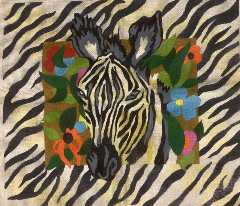 Deux Amis Needlepoint Zebra  Canvas Heritage Arts  Never Stitched