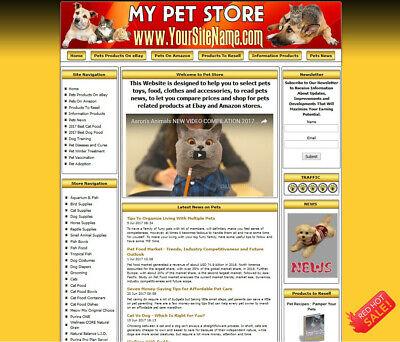 Pet Supply Cat Food Online Affiliate Business Website Hosting Free Domain