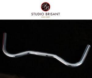 NEW Moustasche Lenker silber poliert 23,8 mm Klemmung  25,4 mm - 3 TTT Form