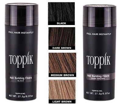 TOPPIK Hair Loss Building Fiber Size 27.5g - BLACK - MEDIUM & LIGHT BROWN - FAST