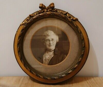 Antique Wood/Gesso Gilded Photo Frame 6.5