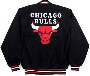 NBA-CHICAGO-BULLS-JH-DESIGN-LIGHT-TWILL-COTTON-BLACK-JACKET-MICHAEL-JORDAN-NWT