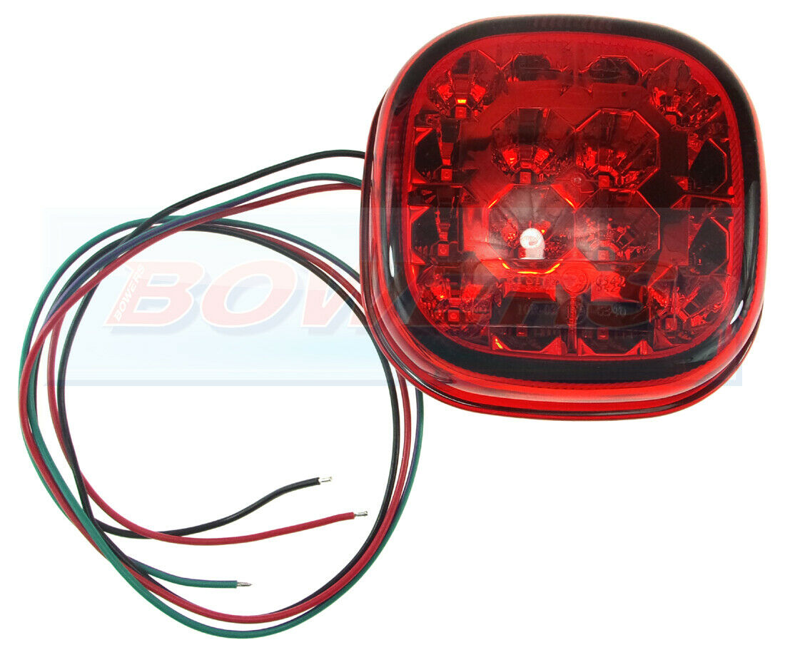 24V UNIVERSAL REAR ROUND HAMBURGER TAIL LAMP LIGHT WITH NUMBER PLATE LAMP 12V