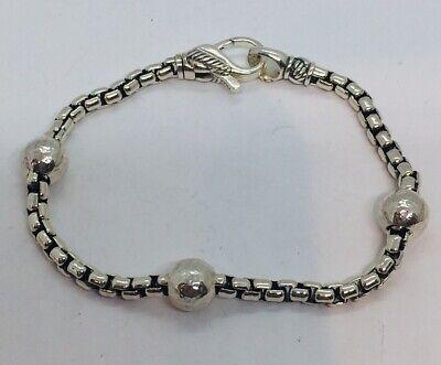 Jai John Hardy Sterling Silver Box Link Bracelet
