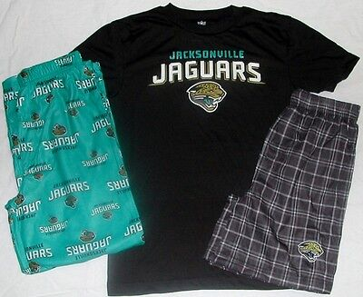 Jacksonville Jaguars Nfl Pajamas Set Pants Shirt Shorts Youth Boys S M L Xl