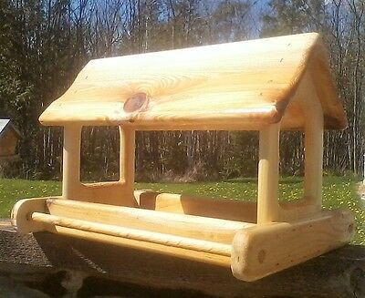 Extra large, cedar wood fly through, platform bird / squirrel feeder, TBNUP #1