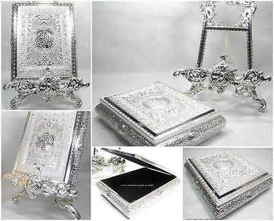 Edle Quran Koran Truhe Silber Metal *Muslim Hijab Abaya Islam Takschita sari*