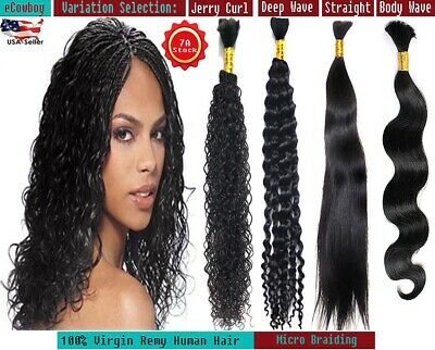 Best Quality Virgin Remy Human Braiding Bulk Hair ST BW DW JC Micro Braids