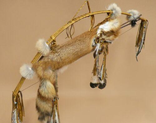 Native American Red Fox Fur Quiver Bow Arrow Set, Buckskin, Navajo Curtis Bitsui