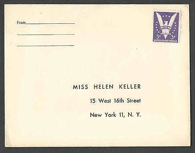 DATED 1944 COVER NY THE AMERICAN FOUNDATION FOR THE BLIND ADDRESSED TO SEE INFO