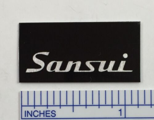 Sansui Turntable Dust Cover Badge Logo Emblem Metal