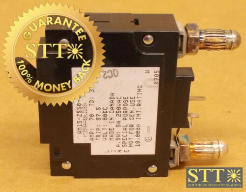 Am1s-z550-14w Heinemann 70 Amp Mid Trip Bullet Circuit Breaker 80 Vdc
