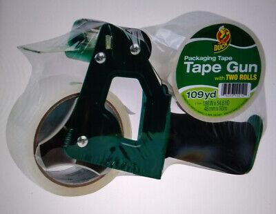 Duck Brand Foam Handle Tape Gun - Clear 1.88 In. X 54.6 Yd. 2-pack