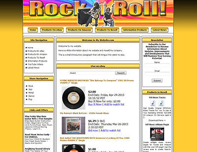 Money Making Rock Shop Affiliate Website Amazonebaygoogledropship