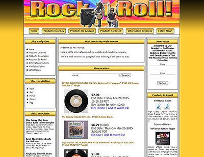 Money Making Rock Shop Affiliate Website Amazonebaygoogledropship