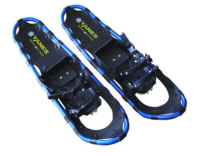 """YANES ALUMINUM SNOWSHOE KIT WITH TREKKING POLES & CARRY BAG - 34"""" TO 250 LBS"""