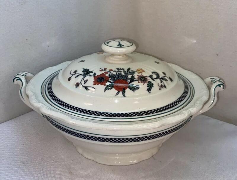 Vtg Antique 1924 FLAXMAN Wedgewood England Pottery Soup Tureen Serving Bowl Lid